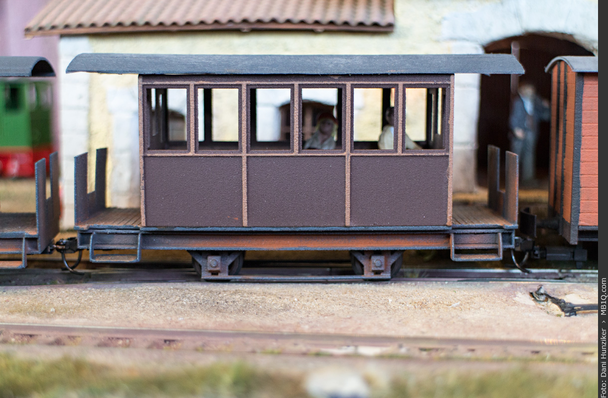 3D printed C.F.B. Passenger Car from Shapeways, 1/43 scale, Oe gauge