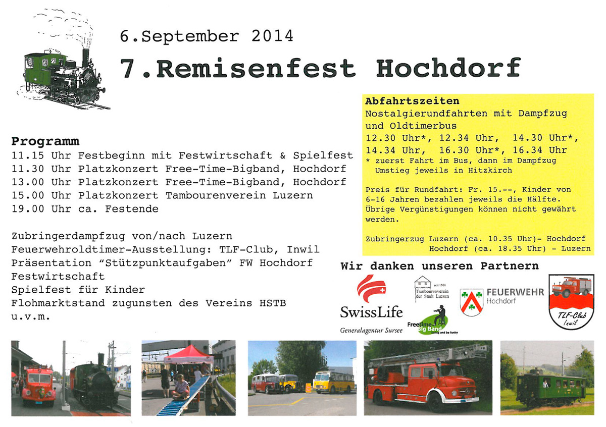 Flyer «7. Remisenfest Hochdorf»